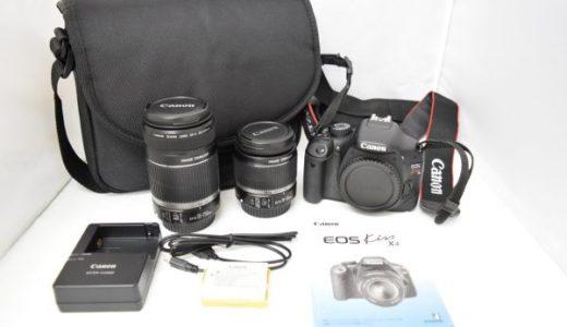 CanonキャノンEOSkissX4/EF-S18-55mm/EF-S55-250mmの買取価格