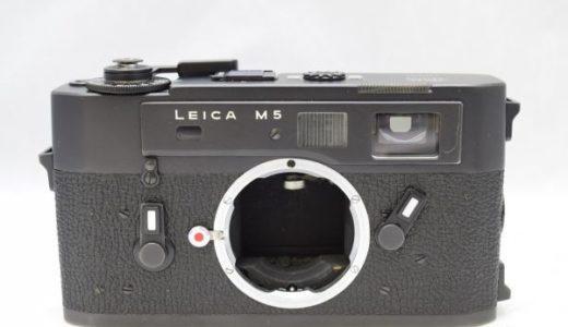 LeicaライカM5ボディ ブラックの買取価格